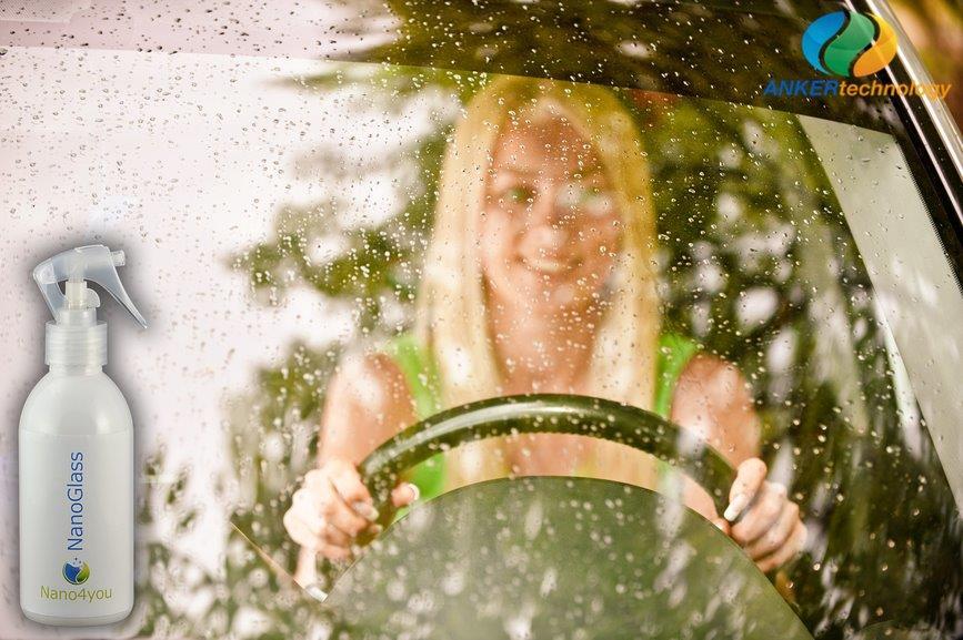 hydrofóbna ochrana čelného skla automobilov