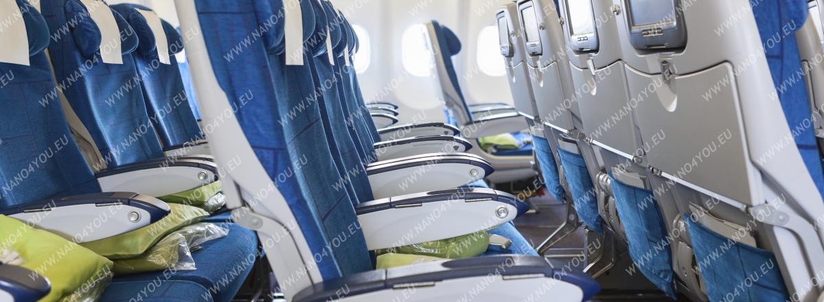 čistenie a dezinfekcie interiéru lietadiel